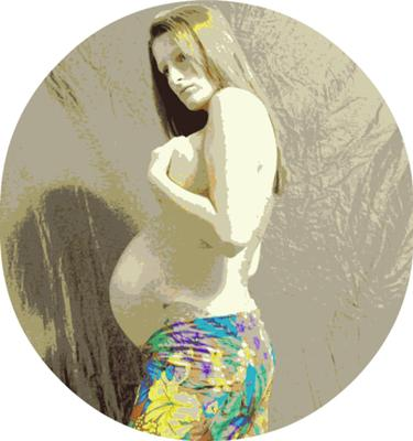 Pregnancy Oil Painting